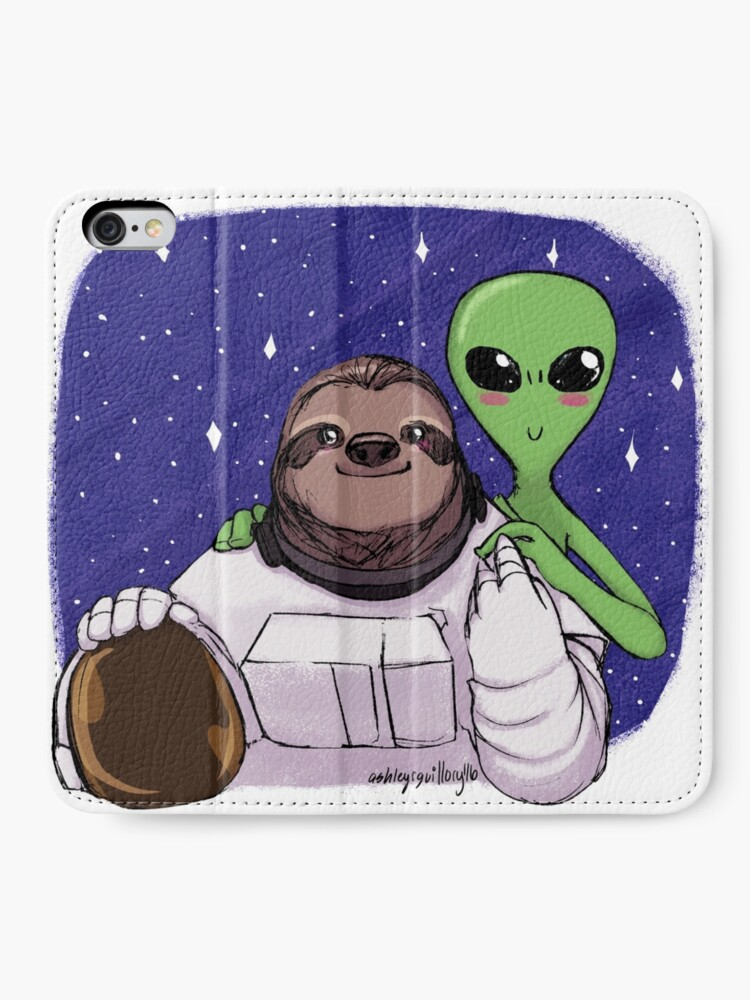 Alternate view of Space Love iPhone Wallet