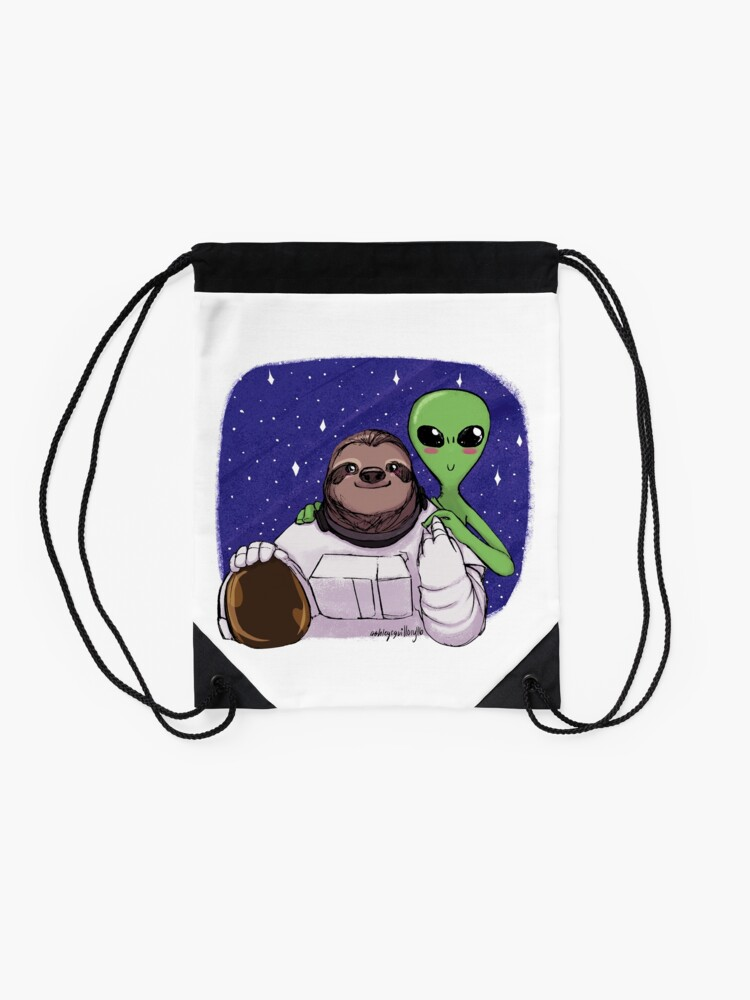 Alternate view of Space Love Drawstring Bag