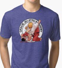 RYU VS KEN - GRACIE JIU-JITSU STYLE Tri-blend T-Shirt