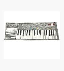 Retro Casio Keyboard Photographic Print