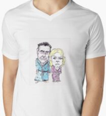 Mitt and Anne Romney- after the election Mens V-Neck T-Shirt