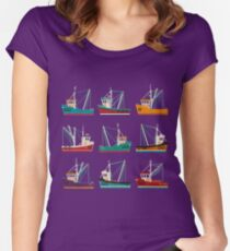 Fishing Trawlers Women's Fitted Scoop T-Shirt