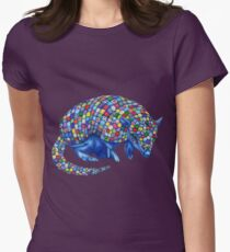 Mosaic Armadillo Women's Fitted T-Shirt