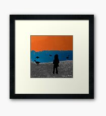 Girl and the Geese 2012 Framed Print