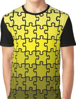 Yellow Puzzle Graphic T-Shirt