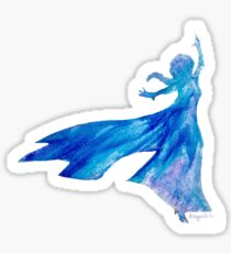 Melted Crayon Snow Queen Sticker