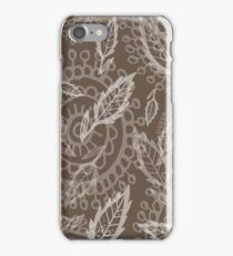 nature doodle pattern iPhone Case/Skin