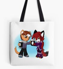 Gerbil 'n Fox - Cappuccino Buddies Tote Bag