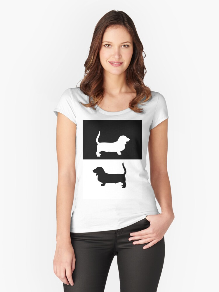 Basset Hound Women's Fitted Scoop T-Shirt Front