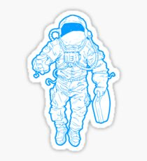 Daily Commute Astronaut Sticker