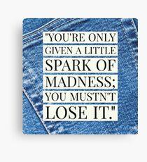 Robin Williams Quote Canvas Print