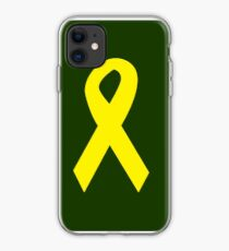 Yellow Ribbon on Green iPhone Case