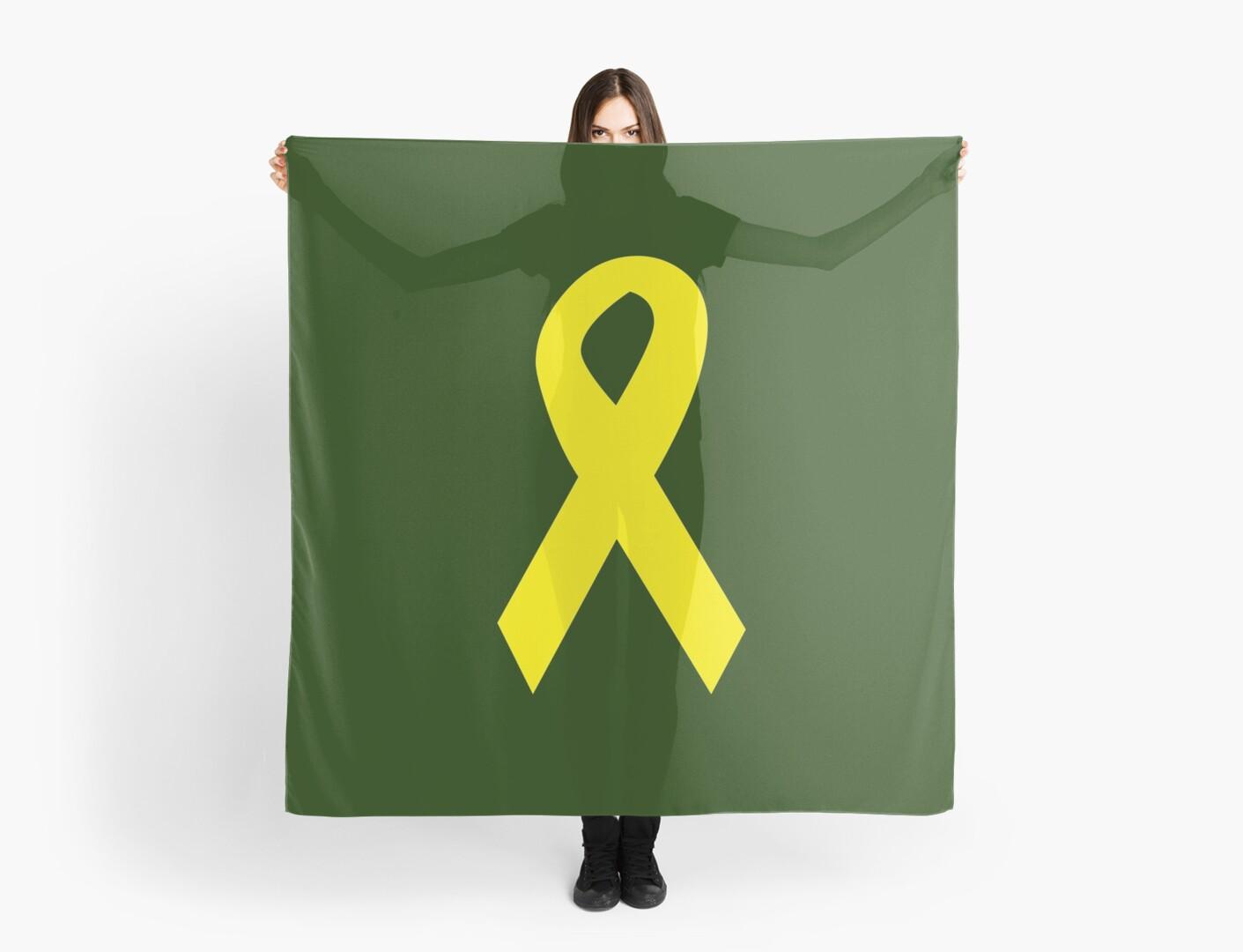Yellow Ribbon on Green by coribeth