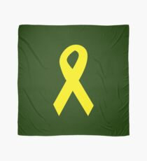 Yellow Ribbon on Green Scarf
