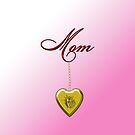 Golden Heart Locket with Mom by Chere Lei