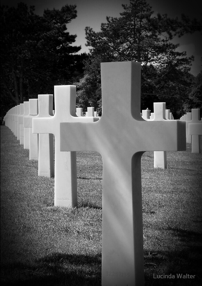 American Cemetery - Remember D Day June 6, 1944 by Lucinda Walter