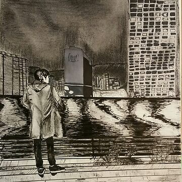 Chanyeol city drawing by rebeccaanne96
