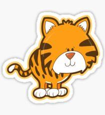 Cute baby tiger Sticker