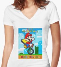 Mario Uni (MKE Edition) Women's Fitted V-Neck T-Shirt