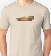 Lost in the Wild Wild West! (Golden Delorean Doubleexposure Art) T-Shirt