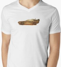 Lost in the Wild Wild West! (Golden Delorean Doubleexposure Art) Men's V-Neck T-Shirt