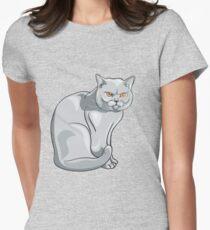 Wild cat art Women's Fitted T-Shirt