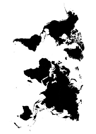 Black And White World Map Posters By Northshire Redbubble