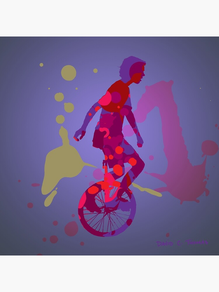 The Unicyclist by randomarthouse