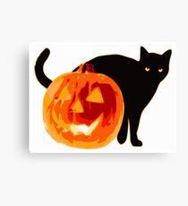 Cat jack o lantern Canvas Print