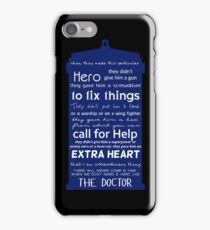 A Hero like the Doctor, Doctor Who iPhone Case/Skin