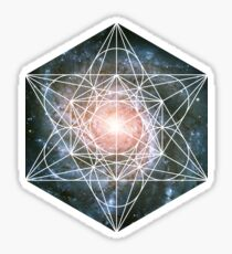Pinwheel Galaxy | Metatron Sacred Geometry Sticker Sticker