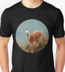 """HUH?"" Confused Llama - Comical Animals Unisex T-Shirt"