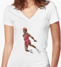 Michael Jordan Women's Fitted V-Neck T-Shirt