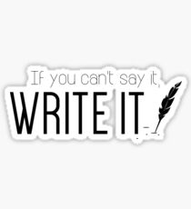 Writing urges #2 Sticker