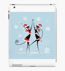 Amusing Christmas cats graphics iPad Case/Skin