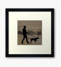 Walking the Dog 2012 Framed Print