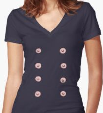 Nipples! Women's Fitted V-Neck T-Shirt