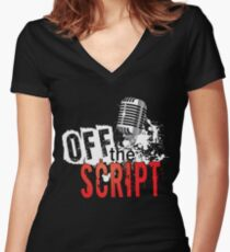 Off The Script Logo Women's Fitted V-Neck T-Shirt