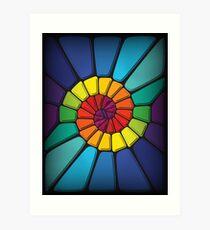 Coincidences Multicolor - Voronoi Art Print