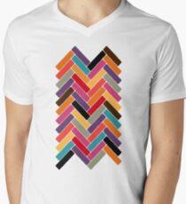 herringbone V-Neck T-Shirt