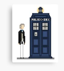 Pixel first Doctor Canvas Print