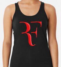 rf, roger federer, roger, federer, tennis, wimbledon, grass, tournament, ball, legend, sport, australia, nadal, net, cool, logo, perfect. Racerback Tank Top