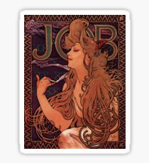 'Job' by Alphonse Mucha (Reproduction) Sticker