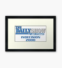 The Daily Show with Jon Stewart: Indecision 2000 Framed Print