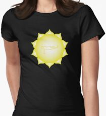 Manipura Chakra - Asana Womens Fitted T-Shirt
