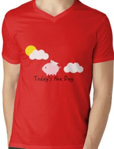 When Pigs Fly Mens V-Neck T-Shirt