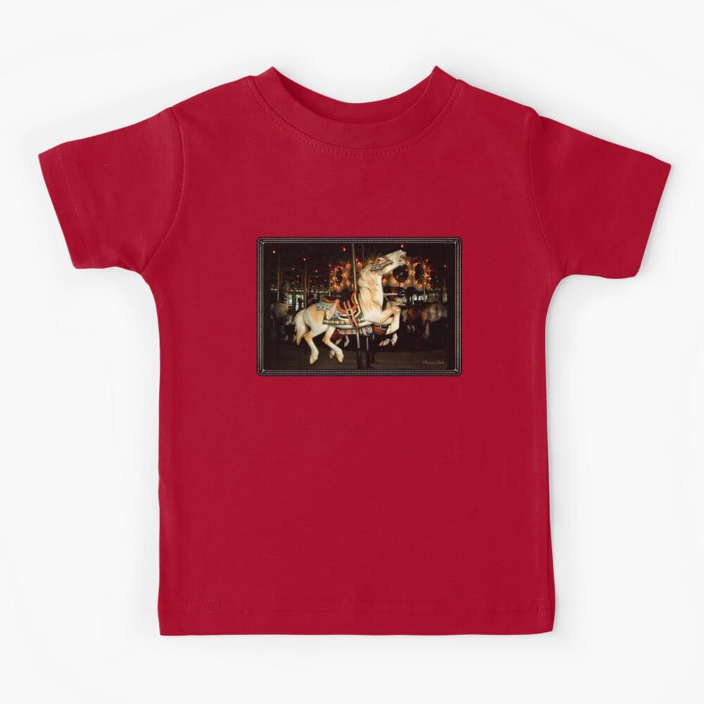 Beautiful Horse on the Carousel Kids T-Shirt