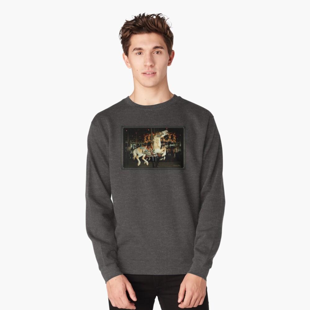 Beautiful Horse on the Carousel Pullover Sweatshirt