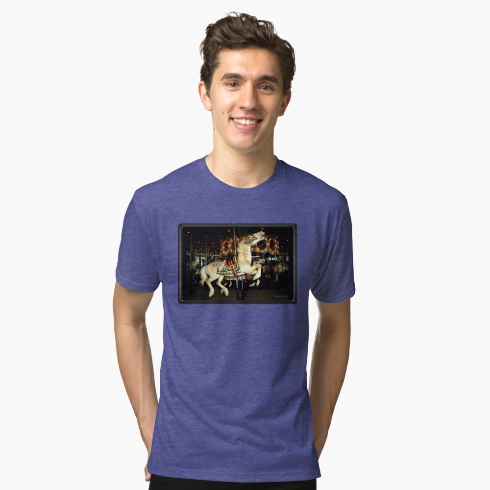 Beautiful Horse on the Carousel Tri-blend T-Shirt