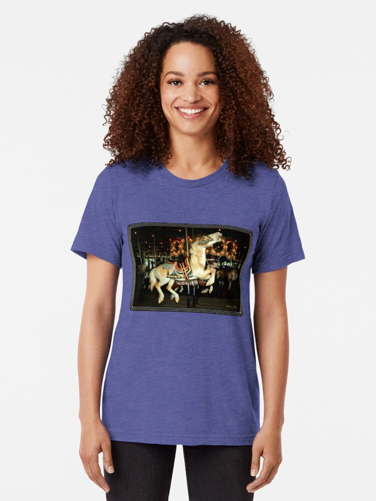 Alternate view of Beautiful Horse on the Carousel Tri-blend T-Shirt